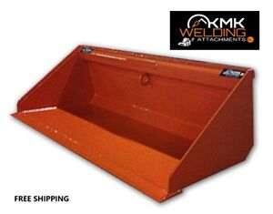 New 60 Low Profile Dirt Bucket For Skid Steer kubota Orange quick Attach
