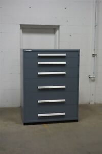 Used Vidmar 6 Drawer Cabinet Industrial Tool Storage 45 Wide 1301