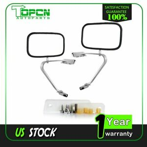 Left right Manual Side View Mirrors Pair For 80 96 Ford F150 f350 Truck Pickup