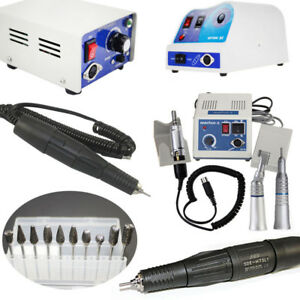 Dental Lab 35k 45krpm Handpiece Micromotor Polisher Pilishing Unit Marathon Burs