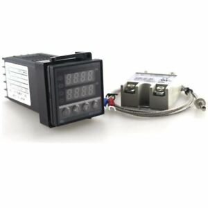 Digital Thermostat Temperature Controller 220v 10a Ac Rex c 100 K Thermocouple