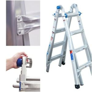 Werner 18 ft Ladder Aluminum 300 lb Telescoping Type 1a Multi position Scaffold