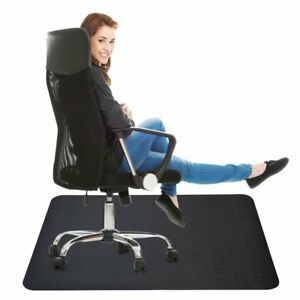 Computer Chair Mat For Hardwood Floor Rectangular Shaped Thick Large Protector