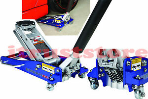 Hydraulic Racing Aluminum Floor Jack Light Weight Rapid Pump 1 1 2 Ton Capacity