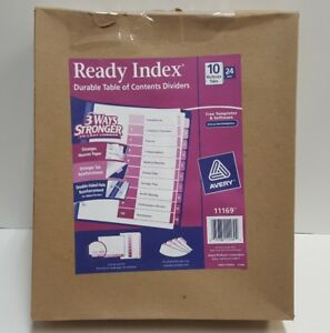Avery Ready Index Table Of Contents Dividers 10 tab Set 24 Sets 11169