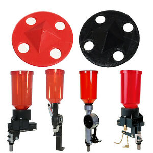 Lee Reloading Press Pyramid Powder Baffle - Auto Disk Drum Classic Pro 1000 Red
