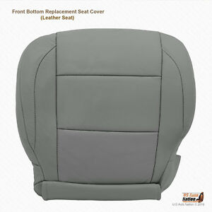 2007 2008 Driver Bottom Leather Replacement Seat Cover For Nissan Titan Gray