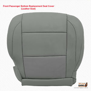 2005 2006 Front Passenger Side Bottom Leather Seat Cover For Nissan Titan Gray