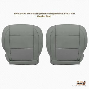 2011 2012 2013 Driver Passenger Bottom Leather Seat Cover For Nissan Titan Gray