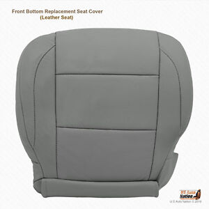 2011 2012 Front Driver Side Bottom Leather Seat Cover For Nissan Titan Gray