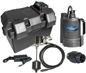 12 volt Submersible Emergency Battery Backup Dc Sump Pump System Thermoplastic