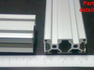 Aluminum T slot Extruded Profile 30x60 8mm L600 800 1000 1200 Or 1500mm 2pcs