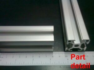 Aluminum T slot Extruded Profile 30x30 8mm L100 200 300 400 Or 500mm 4pieces