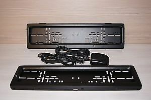 Electric License Car Plate Frame Shutter Curtain Euro Type 2 Pcs In Set New