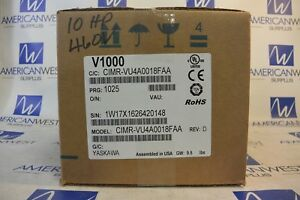 Yaskawa Cimr vu4a0018faa V1000 10 Hp Drive 3 Phase 480 Volt New In Box