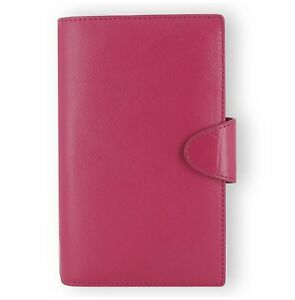 Filofax Weekly Daily Planner Calipso Leather Compact Deep Pink Organizer Agenda