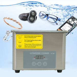 0 8l Industrial Ultrasonic Cleaner Jewelry Clean Machine 35w Power Stainless Us