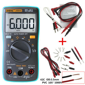 Digital Multimeter Meter Fluke Volt Tester Backlight Ac dc Voltmeter Portable