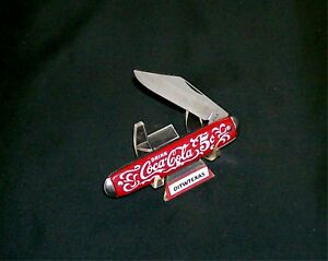 Coca Cola Advertising Jack Knife Red Handles White Lettering Never Sharpened