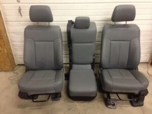 11 16 Ford F250 F350 Super Duty Seats Gray Vinyl
