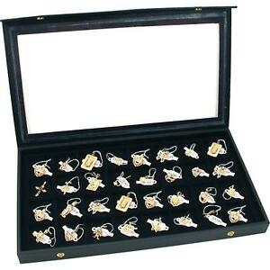 Jewelry Storage Display Box Case Earring Organizer Holders Tray Locking Safe New