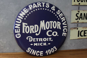 Ford Motor Co Vintage Style Metal Tin Garage Signs Man Cave Boss Not Porcelain