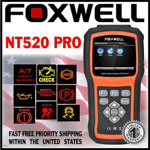 Diagnostic Scanner Foxwell Nt520 Pro For Volvo S70 Obd Code Reader Abs Srs Dpf