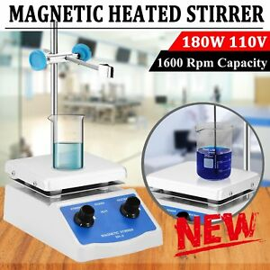 Sh 2 Magnetic Stirrer Hot Plate Dual Controls Heating Plate Stir Laboratory Us M