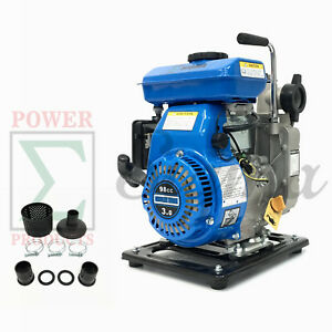 Miami Pick Industrial 3hp Gas Clean Water Pump 1 5 Npt 98cc 4 Stroke Air Cool