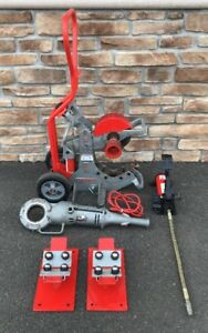 Ridgid 258 Hydraulic Pipe Cutter W Hand Truck Rigid 700 incredible Shape