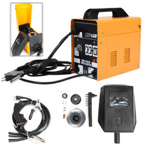 New Mig 130 Welder Flux Core Wire Automatic Feed Welding Machine W Free Mask