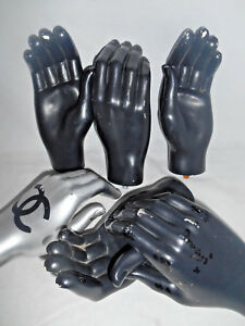 Vintage Mannequin Hands Lot 3 Right 3 Left Adult Hands Used Chanel steampunk