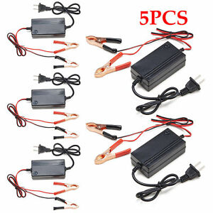 5pcs 12v Motorcycle Car Multimode Battery Charger Tender Maintainer Atv Boat