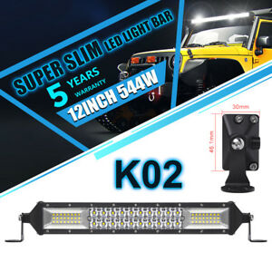 10inch Led Light Bar Work Spot Flood Combo Beam Cree Osram Truck Offroad Vs 20