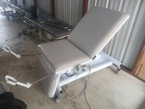 Heritage Medical Sonobed Power Exam Table Bed W Hand Control Stirrups Tested