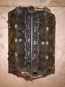1956 1957 Chevrolet 283 Engine Block 3720991 Standard Bore Blank Pad Nice