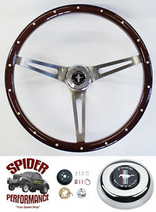 1965 1969 Mustang Steering Wheel Pony 15 Muscle Car Mahogany Foreversharp