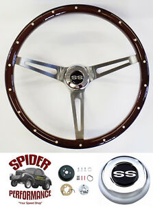 1969 1973 Camaro Chevelle El Camino Steering Wheel Ss 15 Muscle Car Mahogany