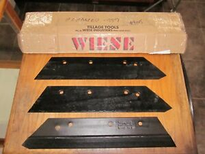 3 Brand New Wiese Plow Points Or Land Shares For 14 Inch Ford Plow 3 4 Bolt 101