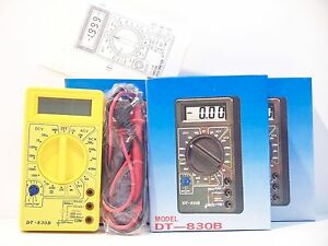 20 Pieces Dt830b Digital Lcd Voltmeter Ammeter Ohmmeter Multimeter