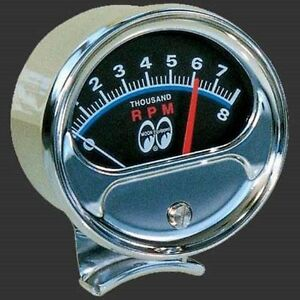 Mooneyes 1 2 Sweep Tachometer Tach Moon Rpm Gauge Half Retro Hot Rod Rat Ford Gm