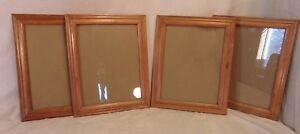 Set Of Four 4 Vintage Pine Frames 12 1 2 X 15 1 2 Holds 10x13 Molding 1 1 2