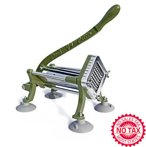 French Fry Cutter With Suction Feet 3 8 inch Blade Stainless Steel Rod