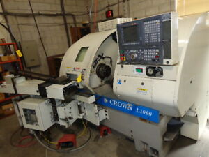 Okuma Crown L1060 Cnc Lathe Serial 1012 1314 parts Loader Not Included