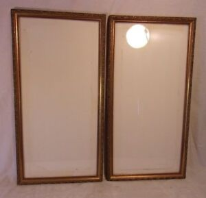 Pair Of Vintage Victorian Gold Leaf Frames 15x291 4 Holds 13 1 4 X 27 1 2
