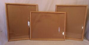 Set Of Three 3 Mid Century Oak Frames 17 1 2 X 21 1 4 Holds 16x20 Molding 1