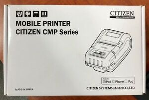 New Citizen Mobile Printer Cmp 20btiu 2 Printer Usb Serial Bt Ios Wh 149