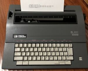 Smith Corona Sl 480 Model 5a Electric Typewriter Portable With Case Cover