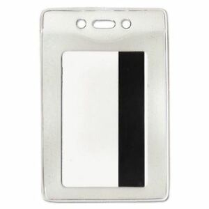 Advantus Corporation Security Id Badge Holder Vertical 3 3 8w X 4 1 4h Clear