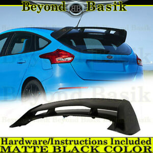 2012 2018 Ford Focus Hatchback Rs Matte Black Factory Style Spoiler Wing Abs